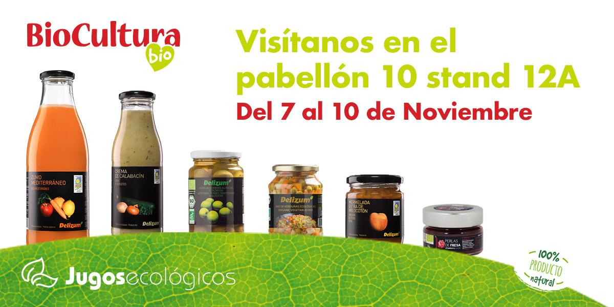 Jugos Ecológicos asiste a la Feria  Biocultura de Madrid